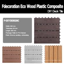 Decking composto plástico de madeira do Decking de DIY do Decking de WPC do bloqueio