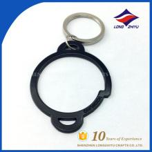 Fabrik Großhandel Schlüsselkette schwarze einfache Kreis Schlüsselanhänger