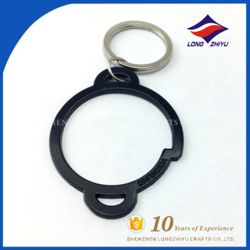 Factory wholesale key chain black simple circle key chain