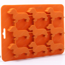Silicone Ice Cube Tray for Dachshund Dog Shaped with BPA Free