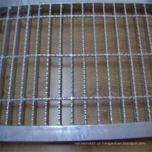 Grade serrilhada galvanizada da barra do piso de aço