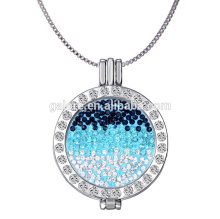 paved stones silver jewelry coin pendant