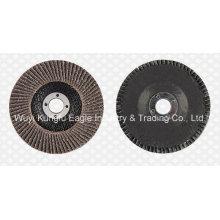 Discos abrasivos de flauta de óxido de calcinación 4 '' (cubierta de fibra de vidrio 22 * 16 mm)
