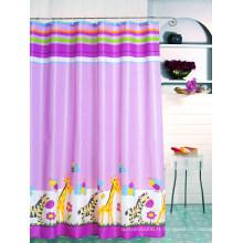 Rideau de douche en polyester, rideau de douche en textile, rideau de bain en textile, rideau de salle de bain en textile