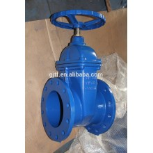 6'' wcb body non-rising stem resilient soft seated gate valve BS 5163& DIN