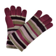 Winter knitted gloves in fashion jacquard weave design, 100% acrylic, warmth and comfortable