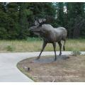 western metal garden decoration wildlife bronze outdoor deer large animal statues