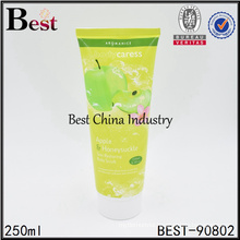 250ml colored empty cosmetic tube packaging for sale