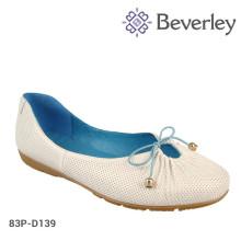 TPR Sole Flat Heel Low-cut Women Shoes