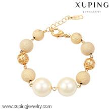 73920 Xuping jóias moda encantos mulheres latão talão pulseira