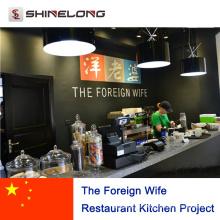 Das fremde Frau-Restaurant-Küchen-Projekt