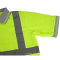 Men's Polo Shirts Hi Vis Short Sleeve Safety Workwear  Safetty T Shirt