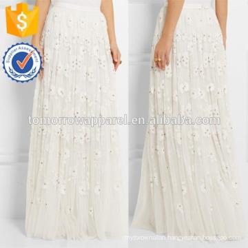 New Fashion Embellished Tulle Maxi Midi Pencil Skirt DEM/DOM Manufacture Wholesale Fashion Women Apparel (TA5184S)
