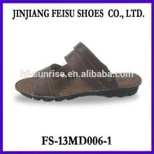 Sommer Herren billig Leder Sandale Herren Leder Sandalen flache Sandalen