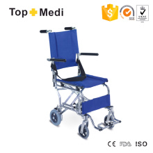 Безопасный сверхлегкий алюминиевый переход Легкий инвалидный колясок с ремнем безопасности