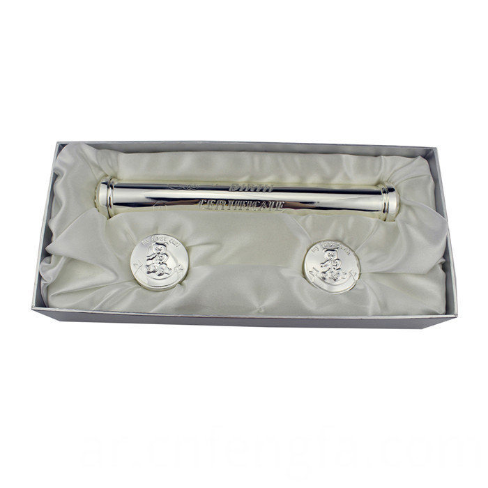 Birth Certificate Holder Silver Plated