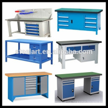 hign quality metal work bench with tool drawers and LED