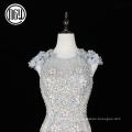 Respectueux de l'environnement personnalisé luxe dubai 3d fleur robe de mariée sirène