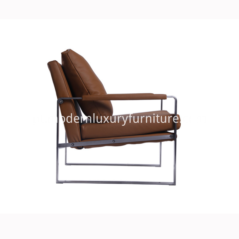 Modern Stainless Steel Lounge Chair