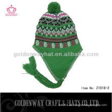 Erwachsener Earflap Hut Häkelarbeit Muster Winter Stricken Hüte