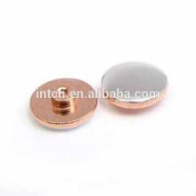 Electrical components bimetal contact rivets