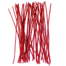 Red Glitter Pipe Cleaners tinsel christmas decoration