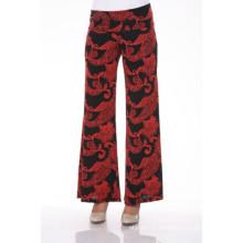 Impression artisanale féminine d'été Palazzo Pantalons Vêtements pour femmes