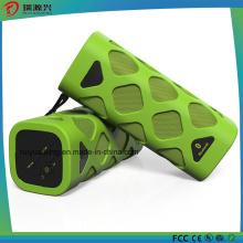 Портативный Bluetooth динамик со встроенным микрофоном (зеленый)