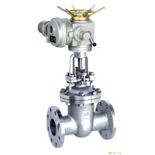 high quality POV Shanghai knife type electric gate valve dn50