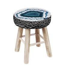 Wooden stone stools
