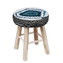 Wooden stone stools