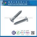 Fabriqué en Taiwan DIN7983 Acier au carbone à galvanisé Phillips Drive Oval Head Self Tapping Screws
