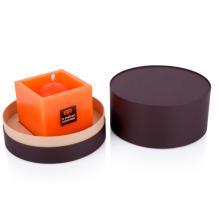 Dunkelbraune Zylinder-Kerzenverpackung