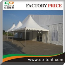 Best quality combined high peak wedding tent wholesale with carpet and linings decoration
