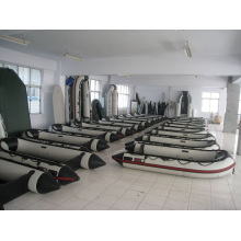 2.3m Strong PVC White&Black Big Inflatable Rowing Boat