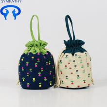 Benutzerdefinierte Leinwand kleine Null Geldbörse Strings kleine Tasche
