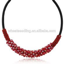 2014 Compra De Moda Y Lujo Red Collar De Cristal Corto
