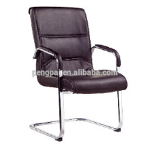 Steel frame PU leather office chair without wheel