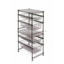 Vivinature Lagerwagen 3 Tier Draht Küchenregal Metallgestell Rack Utility Stand