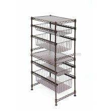 Vivinature Storage Cart 3 Tier Wire Cocina estante Metal Wheeled Rack Utility Stand