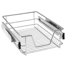 Выдвижная корзина с выдвижным ящиком для кухни с телескопическим гальваническим покрытием