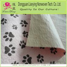 Tissu 100% polyester non tissé imprimé feutre