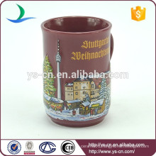 YScc0013-01 Christmas Tree And Castle Pattern Christmas Mugs Wholesale For Kids