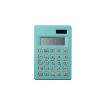 Dual Power 8 Digit Pocket Calculator with Note and Pen