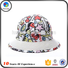 soft cotton material bucket hat for baby