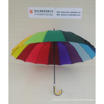 "27 ""X 16k, guarda-chuva automático do arco-íris da vara (YS-S16001R)"