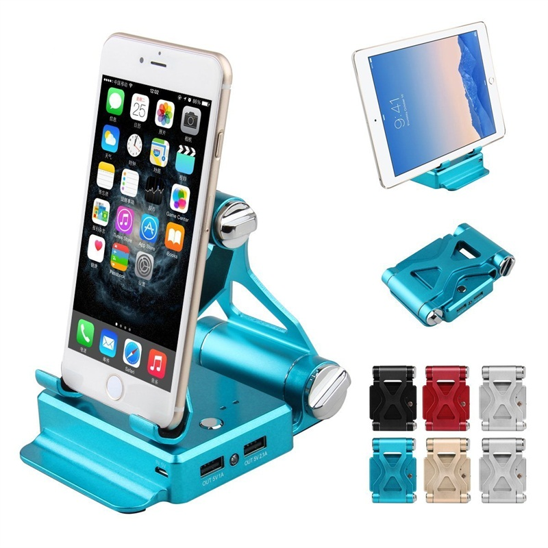 Multifunction Dual USB Stand Holder Power Bank