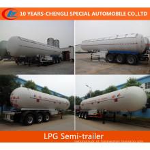 3 Eixos Semi-reboque de Gás LPG Semi-reboque 56000litros Semi-reboque de Gás
