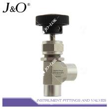 Válvula de agulha do instrumento Feamle NPT de aço inoxidável