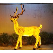 Simulação de luzes de cervos Sika masculinos